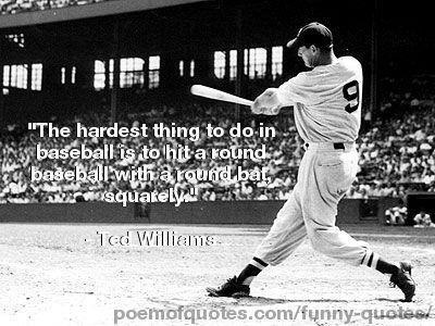 A quote about baseball by Ted Williams