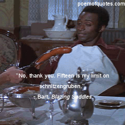 A quote from Blazing Saddles.